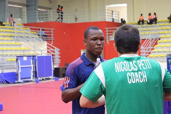 Ali et son coach Nicolas Petit