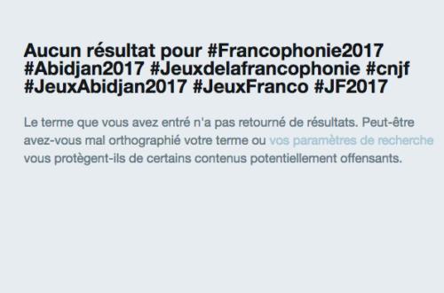 Article : Jeux de la francophonie : On se perd dans la multitude de Hashtag