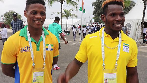 L'équipe Judo Gabon aux 8e Jeux Francophonie