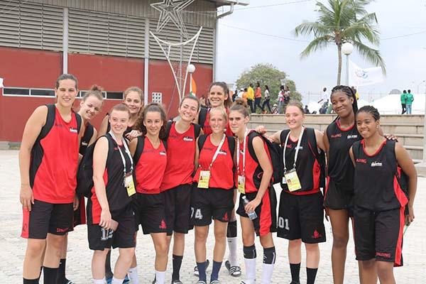 L'équipe féminine de Basket Belgique aux 8e Jeux Francophonie
