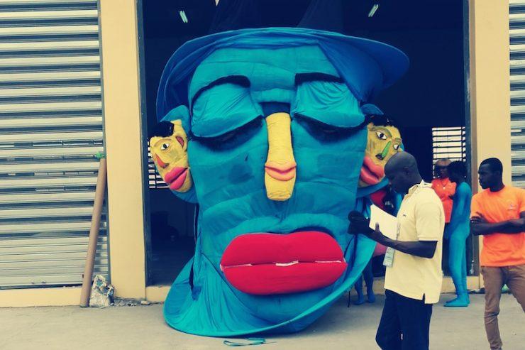 Marionette géante ivoirienne