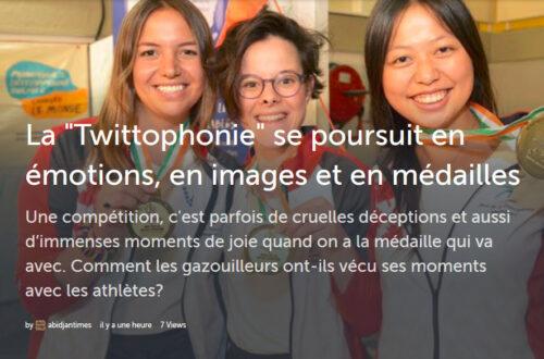 Article : La «Twittophonie» se poursuit en émotions, en images et en médailles